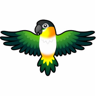 Cartoon Caique / Lovebird / Pionus / Parrot Photo Sculpture Magnet