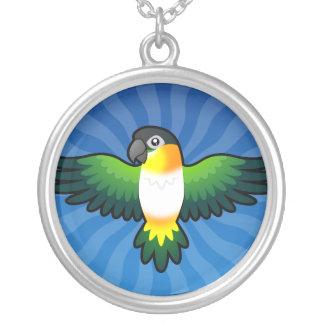 Cartoon Caique / Lovebird / Pionus / Parrot Silver Plated Necklace