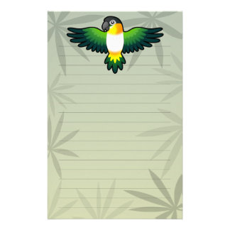 Cartoon Caique / Lovebird / Pionus / Parrot Stationery Design