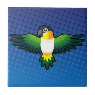 Cartoon Caique / Lovebird / Pionus / Parrot Tile