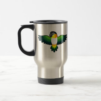 Cartoon Caique / Lovebird / Pionus / Parrot Travel Mug