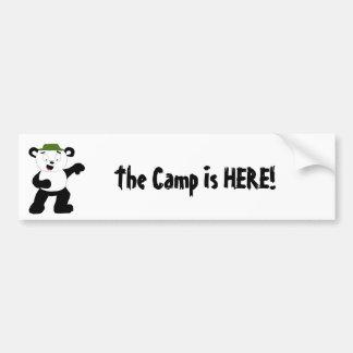 Cartoon Camp Panda Car Bumper Sticker