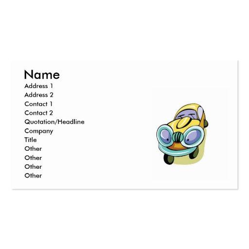Cartoon car business cards cartoon car business card designs for Cartoon business cards