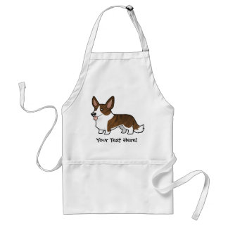 Cartoon Cardigan Welsh Corgi Standard Apron