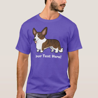Cartoon Cardigan Welsh Corgi T-Shirt
