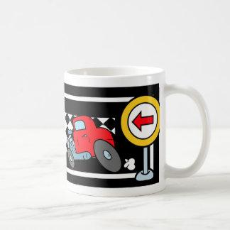 Cartoon Cars on a Race Track Mug