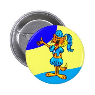 Cartoon Cat As Romeo 6 Cm Round Badge