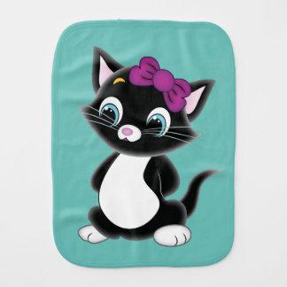 Cartoon Cat Burp Cloth