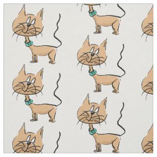 Cartoon cat fabric