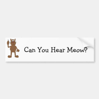 Cartoon Cat With Cell Phone Bumper Sticker
