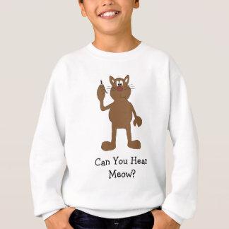 Cartoon Cat With Cell Phone Sweatshirt