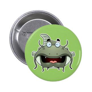 Cartoon Catfish 6 Cm Round Badge