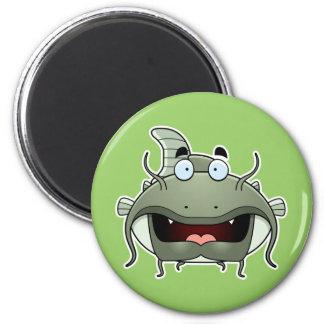 Cartoon Catfish 6 Cm Round Magnet
