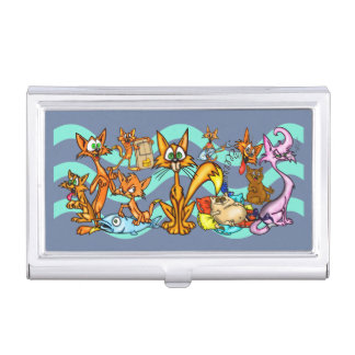 Cartoon Cats Business Card Holder