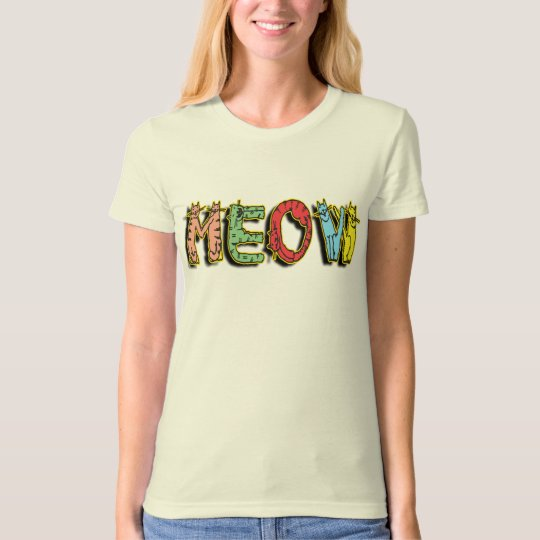 Cartoon Cats Meow T Shirt