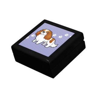 Cartoon Cavalier King Charles Spaniel Gift Box