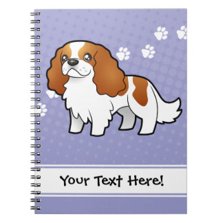 Cartoon Cavalier King Charles Spaniel Note Book