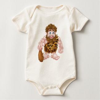 Cartoon Caveman with Club Baby Bodysuit