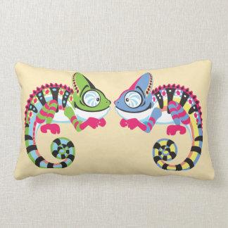 cartoon chameleon lumbar cushion