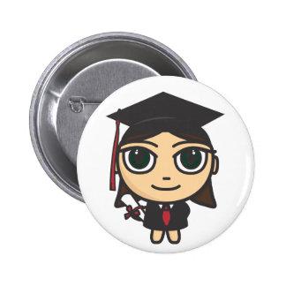 Cartoon Character Graduation Button Badge