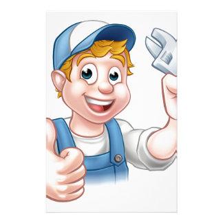 Cartoon Character Mechanic or Plumber Stationery