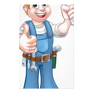 Cartoon Character Plumber or Mechanic Customized Stationery