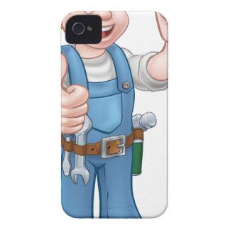 Cartoon Character Plumber or Mechanic iPhone 4 Case