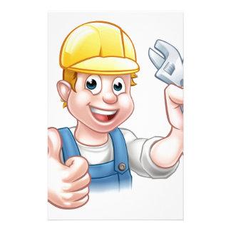 Cartoon Character Plumber or Mechanic Stationery
