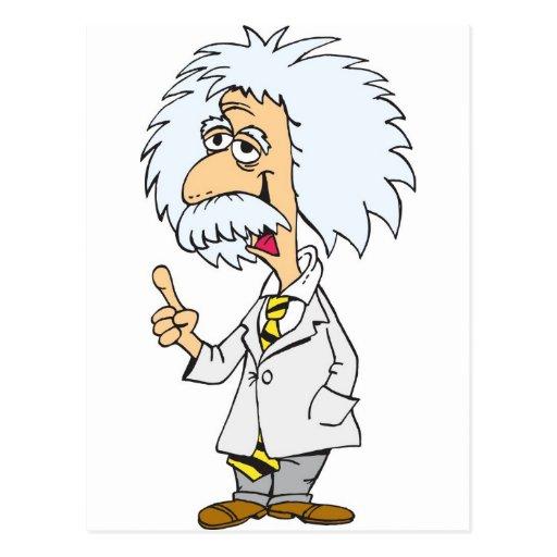 Cartoon character professor postcard | Zazzle