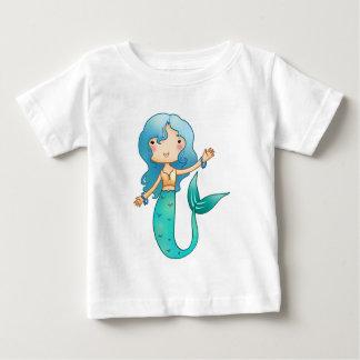 Cartoon Cheerful Mermaid Baby T-Shirt