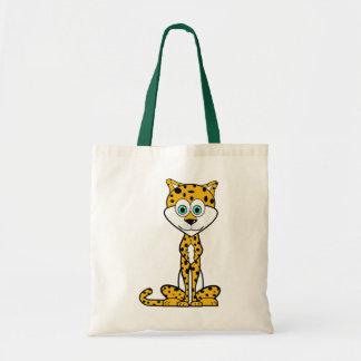 Cartoon Cheetah Tote Bag