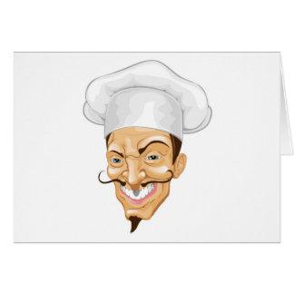Cartoon chef illustration greeting card