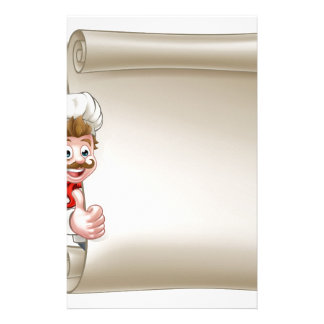 Cartoon Chef Menu Scroll Stationery