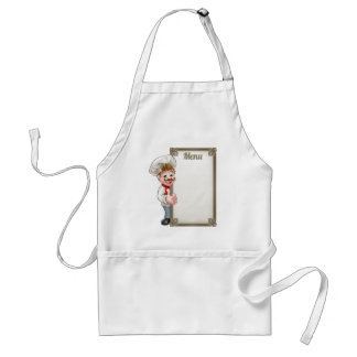 Cartoon Chef Menu Standard Apron