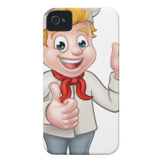 Cartoon Chef or Baker Character iPhone 4 Covers