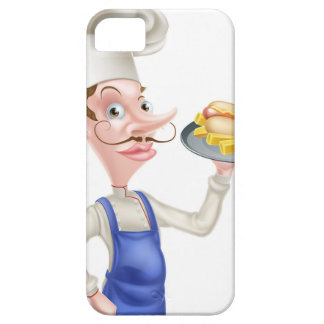 Cartoon Chef With Hot Dog and Chips Case For The iPhone 5
