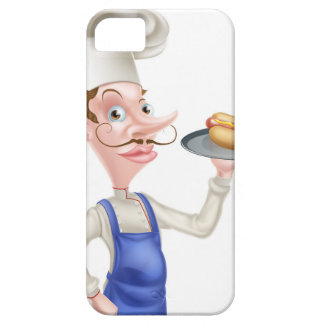 Cartoon Chef With Hot Dog Case For The iPhone 5