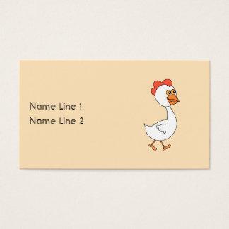 Cartoon Chicken. Business Card
