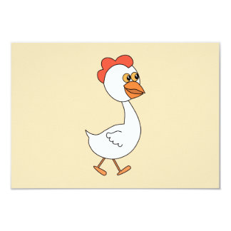 Cartoon Chicken. Card