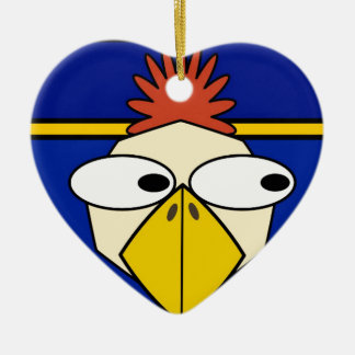 Cartoon chicken christmas ornament