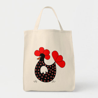Cartoon Chicken Grocery tote bag