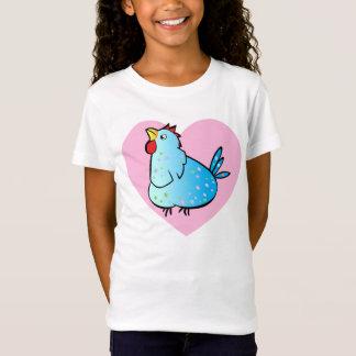 Cartoon Chicken Heart - Girls T-shirt