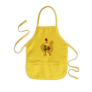 Cartoon Chicken kitchen kids apron