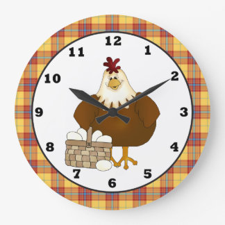 Cartoon Chicken kitchen wall clock