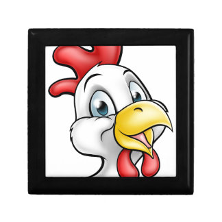 Cartoon Chicken Rooster Character Small Square Gift Box