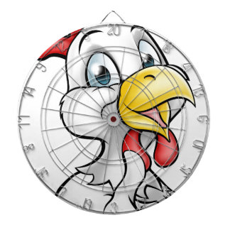 Cartoon Chicken Rooster Dartboard With Darts