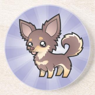 Cartoon Chihuahua (long coat) Coaster