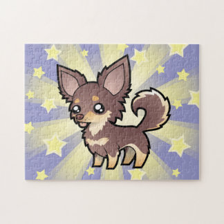 Cartoon Chihuahua (long coat) Puzzle