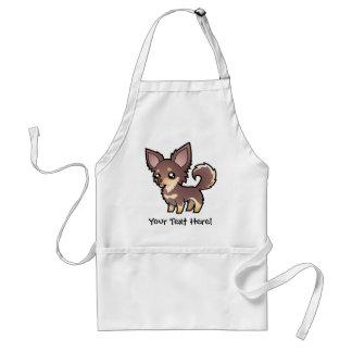 Cartoon Chihuahua (long coat) Standard Apron
