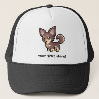Cartoon Chihuahua (long coat) Trucker Hat